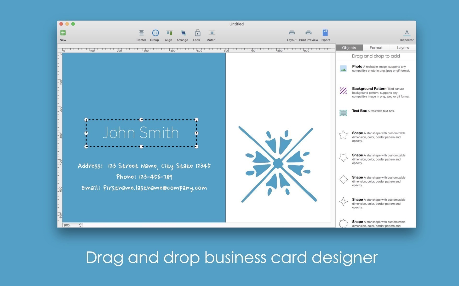 BP Business Card Designer for Mac